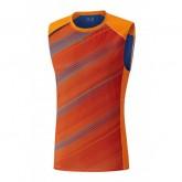 Mizuno T-shirt sans manches Premium Aero Bleu / Orange Running  Homme