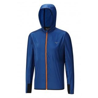 Mizuno Veste Lightweight Hoody Bleu / Orange Running/Training Homme