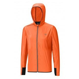 Mizuno Veste Lightweight Hoody Gris / Orange Running/Training Homme